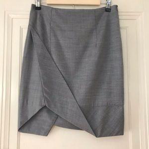 L.A.M.B. Asymmetrical Gray Wiggle Skirt